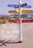 Reise-Abenteuer-Zitat Lizenzfreie Stockfotografie