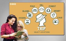 Reise-Abenteuerreisen-Reise-Erfahrungs-Konzept stockfotos