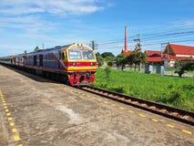 Reise, alte Bahnstation in Thailand lizenzfreie stockfotografie