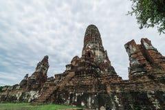 Reise in alter Stadt Ayutthaya Lizenzfreie Stockfotos
