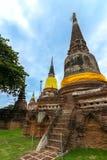 Reise in alter Stadt Ayutthaya Stockbilder