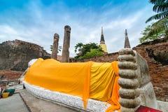 Reise in alter Stadt Ayutthaya Stockfotos