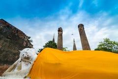 Reise in alter Stadt Ayutthaya Stockbild