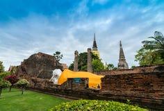 Reise in alter Stadt Ayutthaya Stockfoto