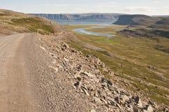 Reise auf der Straße in Island lizenzfreies stockfoto