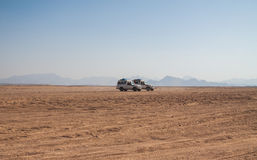 Reise auf der Wüste nahe Hurghada Stockbild