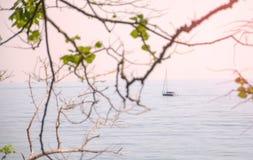 Reise auf einer Yacht stockfoto