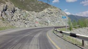 Reise auf Steilpass Chike Taman Chuysky Trakt stock video