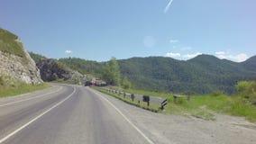 Reise auf Steilpass Chike Taman Chuysky Trakt stock video footage