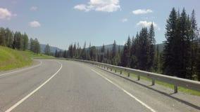 Reise auf Steilpass Seminsky Chuysky Trakt stock video footage