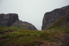 Reise in den Bergen Stockbild