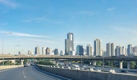 Reise in der Hauptstadt auf Schnellstraße Bangkok Stockbild