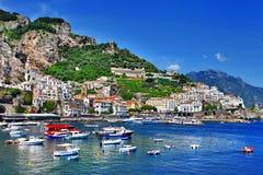 Reise in der Italien-Serie - Amalfi Lizenzfreies Stockbild