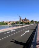 Reise, die, Schatten zeigt auf einen turistic Punkt, auf der Straße führt Lizenzfreies Stockbild