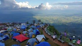 Reise, die in Thailand kampiert Stockbild