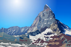 Reise durch die Berge glauben Sie der Leistung der Natur Lizenzfreies Stockfoto