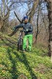 Reise durch Fahrrad stockbilder