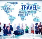 Reise erforschen globales Bestimmungsort-Reise-Abenteuer-Konzept lizenzfreies stockbild