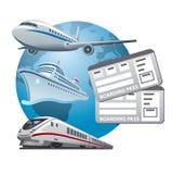 Reise etikettiert Ikone Lizenzfreies Stockfoto