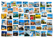 Reise in Europa-Collage Stockfotos
