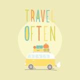 Reise häufig Van mit vielem Gepäck Stockbilder