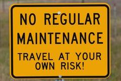 Reise an Ihrem eigenen Gefahr-Zeichen Lizenzfreies Stockbild