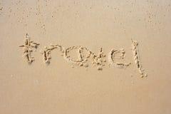 Reise im Sand Stockfotografie