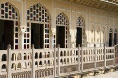 Reise Indien: balconyl von Hawa Mahal Palast in Jaipur Stockbilder