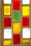 Reise Indien: Detail des Buntglasfensters in Hawa Mahal, Jaipur Lizenzfreie Stockfotografie