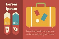 Reise Infographic-Element Stockfoto