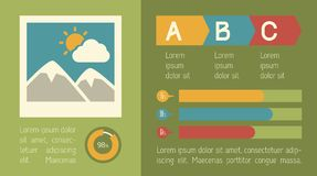 Reise Infographic-Element Stockbild