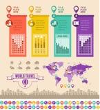 Reise Infographic-Schablone. Lizenzfreies Stockbild