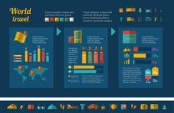 Reise Infographic-Schablone Stockbild
