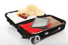 Reise - Koffer Stockfoto