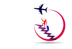 Reise-Logo Lizenzfreie Stockfotografie