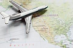 Reise nach Amerika Stockbild