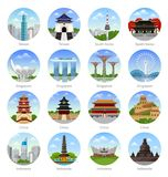 Reise nach Asien stock abbildung