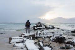 Reise nach Lofotens Stockfotos