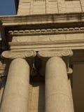 Reise nach Rom oder Griechenland und sehen alte Spalten und Säulen Stockbild