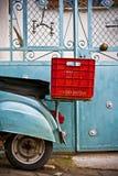 Reise oder Aufenthalts-Vespa oder Haus Lizenzfreie Stockbilder