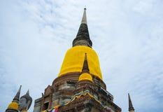 Reise Pagoden-Tempel Ayutthaya Thailand Stockfotos