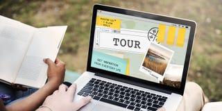 Reise-Reise Destinatiion erforschen Ausflug-Konzept stockbilder
