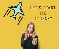 Reise-Reise-on-line-Anmeldungs-Ferien-Konzept lizenzfreies stockbild