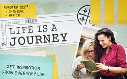 Reise-Reiseziel erforschen Ausflug-Konzept Stockfotografie