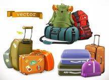 Reise Tasche, Rucksack, Koffer lizenzfreie abbildung
