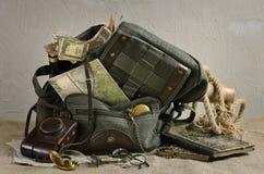Reise-Thema-Stillleben Lizenzfreies Stockbild