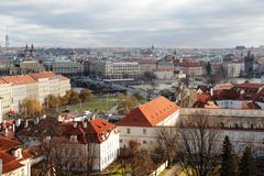 Reise-Tourismusansicht Prags Europa Stockfotografie