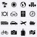 Reise-und Ferien-Ikonen Stockfotografie
