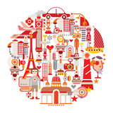 Reise und Tourismus Lizenzfreies Stockbild