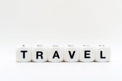 Reise, Würfelbuchstaben Lizenzfreies Stockbild